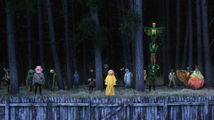 A variety of costumed freaks lie just beyond Greta's backyard.